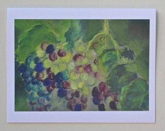 Grape & Vines Art Note Cards  By Cori Solomon
