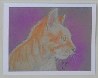 Orange Tabby Cat Art Note Cards by Cori Solomon