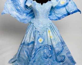 Starry Night Fairy dress Inspired by Vincent Van Gogh Painting