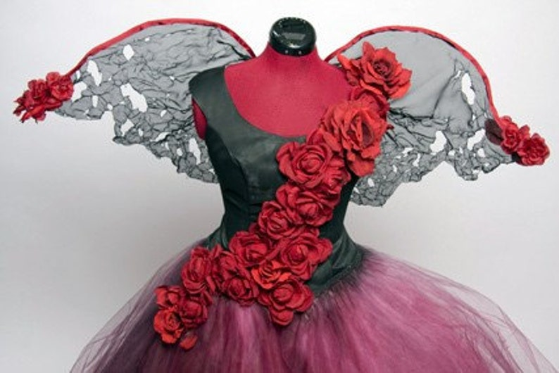 Tattered Rose Fairy Dress Costume  Made to Order image 0