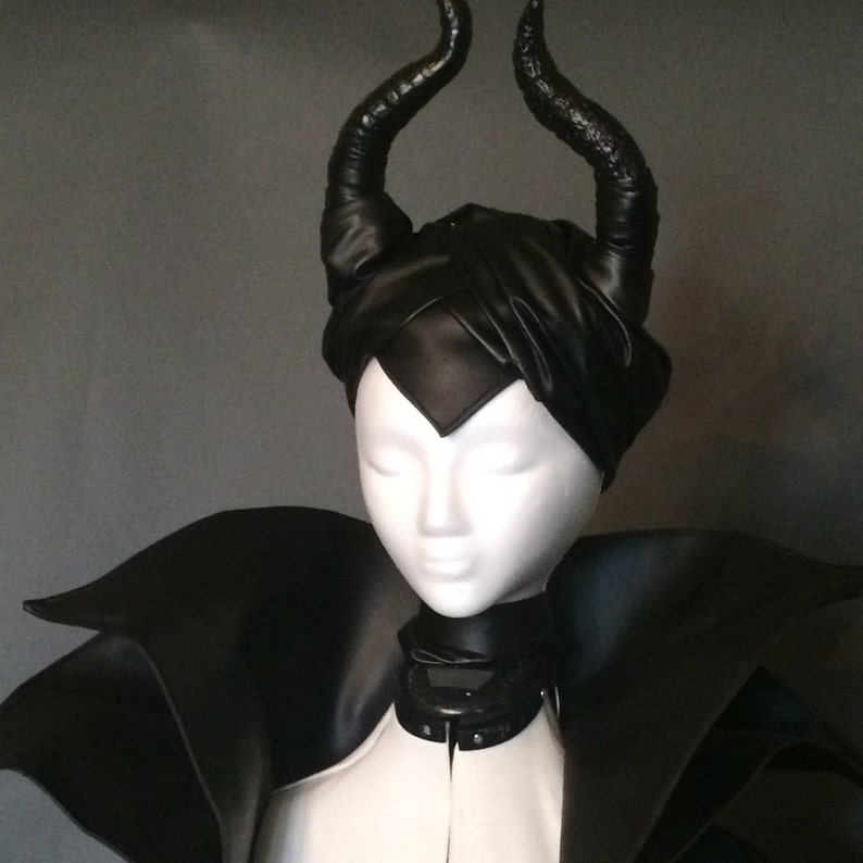 Maleficent Faux Leather Sculpted Horn Headpiece image 0