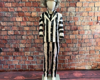 Kids Beetlejuice Costume - SIze 4-6 - Ready to ship today