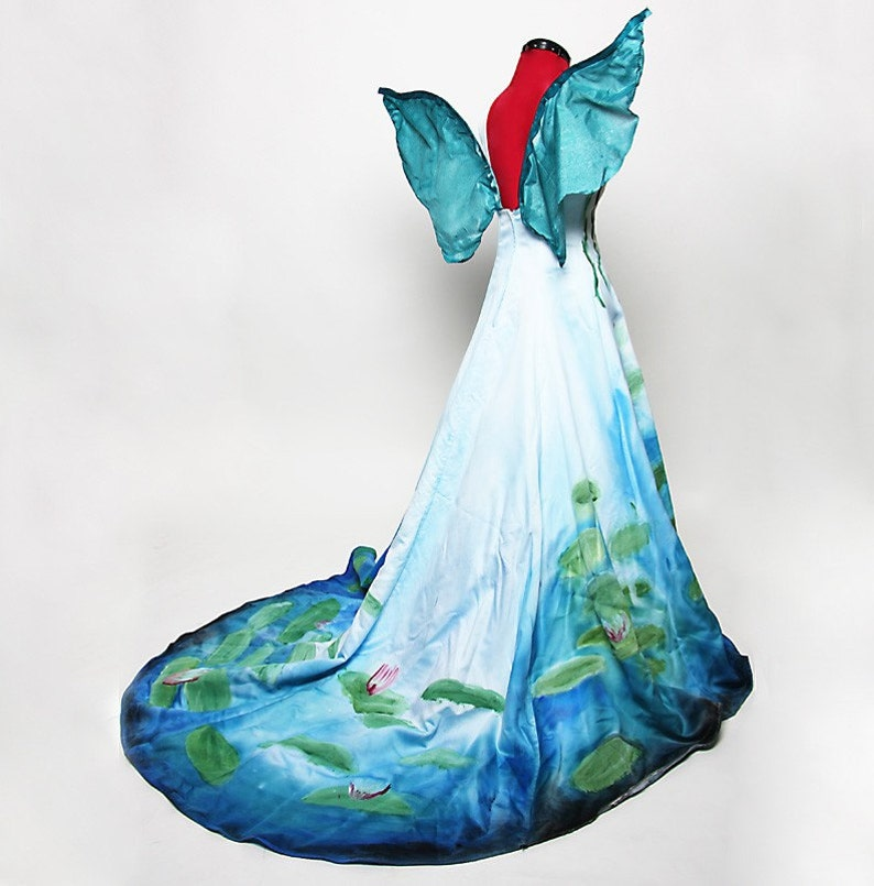 Monet Inspired Waterlilies Fairy Costume  Made to Order image 0