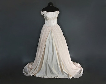 Blushing Champagne Wedding Gown - Sample Gown Size 8-12