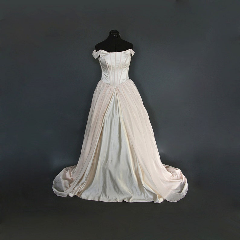 Blushing Champagne Wedding Gown  Sample Gown Size 8-12 image 0