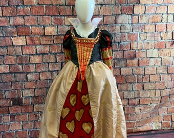 Child's Queen of Hearts Costume - SIze 7/8 - ready to ship today