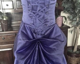 Moulin Smoldering Temptress Satine Gown in Indigo - Size 8-12