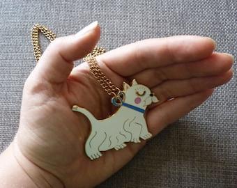 Enamel Westie Dog Necklace
