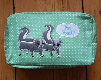 Skunks Cosmetic Bag