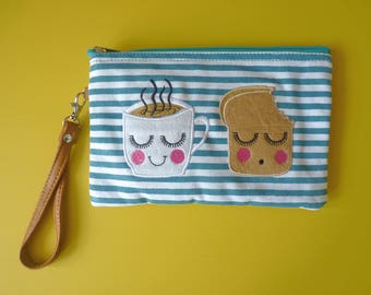 Tea Loves Toast Cosmetic Pouch / Clutch