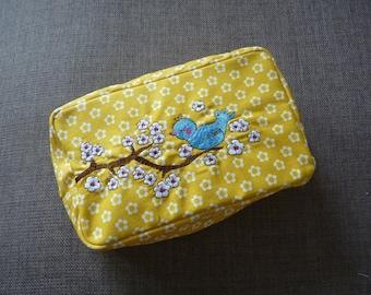 Blue Bird Cosmetic Bag