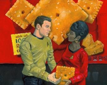 "Star Trek Cheezit print #2 ""The Power of Cheez It #2 - Amour"""