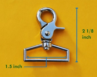 Heavy Duty High Quality 20 of 1.5 inch Inside Loop End Large Silver/Nickel Swivel Clasps Hooks
