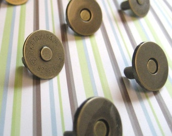 FREE SHIPPING -- Extra Thin 100 sets of 18mm AntiBrass Magnetic Snap Closures