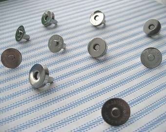 FREE SHIPPING --High Quality 100 sets of 14 mm Nickel/Silver Magnetic Snap Closures