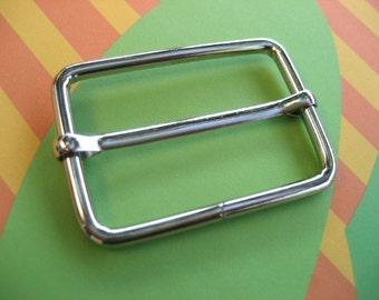 10 of 1 1/2  inch Silver/Nickel Rectangle Strap Sliders
