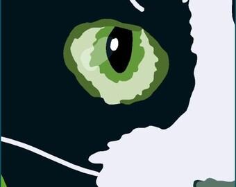 green eye cat