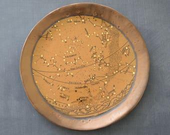 CONSTELLATION  P L A T E  Handmade and Screenprinted Stoneware Featuring Pisces, Aries, Taurus, Gemini