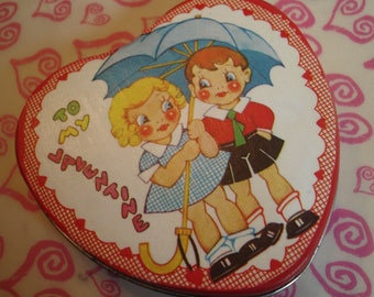 Vintage Valentine Sweeties  Altered Mint Tin Sewing Kit