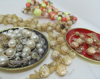 Lots o vintage beads and 'pearl' necklaces from the 70s for supplies