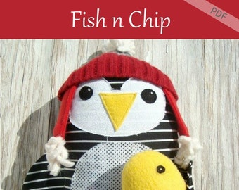 Penguin Pattern including fish pattern DOWNLOAD IT NOW