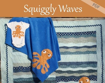 Squiggly Waves e-pattern Baby Quilt