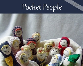 Pocket People and Carrier Doll Pattern pdf epattern toy stuffed animal