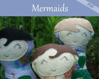 Mermaid Doll pattern tutorial style ragdoll pattern Download Pattern Now