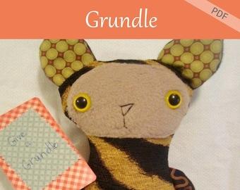 Grundle Doll Pattern pdf mix and match rabbit, bunny, bear, cat, fun stuff a grundle of possibilities