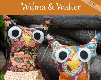 Owl Sewing Pattern Plushie Stuffie Instant Download