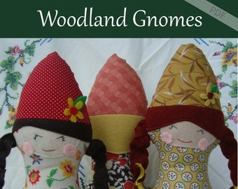 Gnome Doll Pattern, Woodland doll Download Pattern Now
