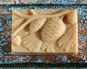 Scented Pine Cone Goat's Milk Soap, Pine Cone Soap, Goat's Milk Soap, Homemade Soap, Made in Montana Soap
