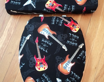 Rock n Roll Toilet Seat Cover Set
