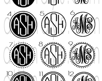 Vinyl Adhesive Monogram