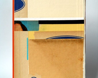 Original Abstract Paper Collage on Book Cover