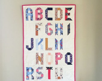 Digitaler Download Band Buchstaben des Alphabets Quilt Pattern PDF