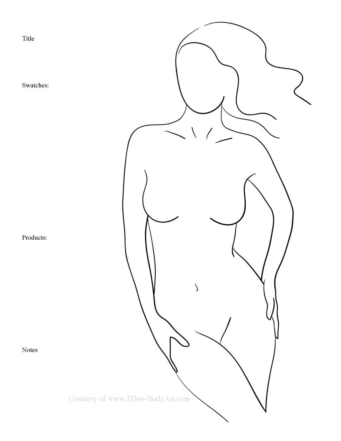 10 Body Paint Charts Body Templates For Body Painters Etsy