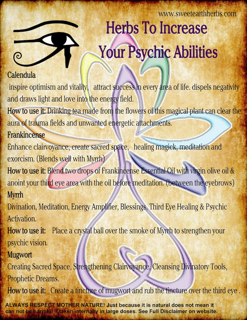 NEW Herbs that Open and Increase Your Psychic Abilities BOS image 0