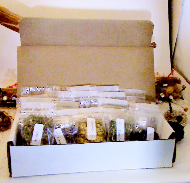 Box of 40 Herbs- Witches Herb Starter Kit! Wiccan herbs, herbs for spells,  altar tools, witchcraft kits, spell kits, wiccan spells, pagan