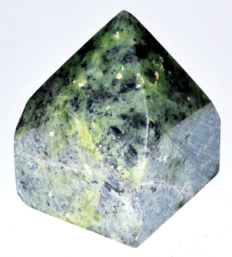 Nephrite top polished Crystal Gemstone Point Crystal Healing image 0
