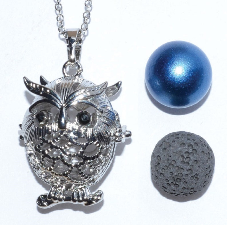 3 pc set Owl Harmony Bell Aromatherapy Diffuser Chamber image 0
