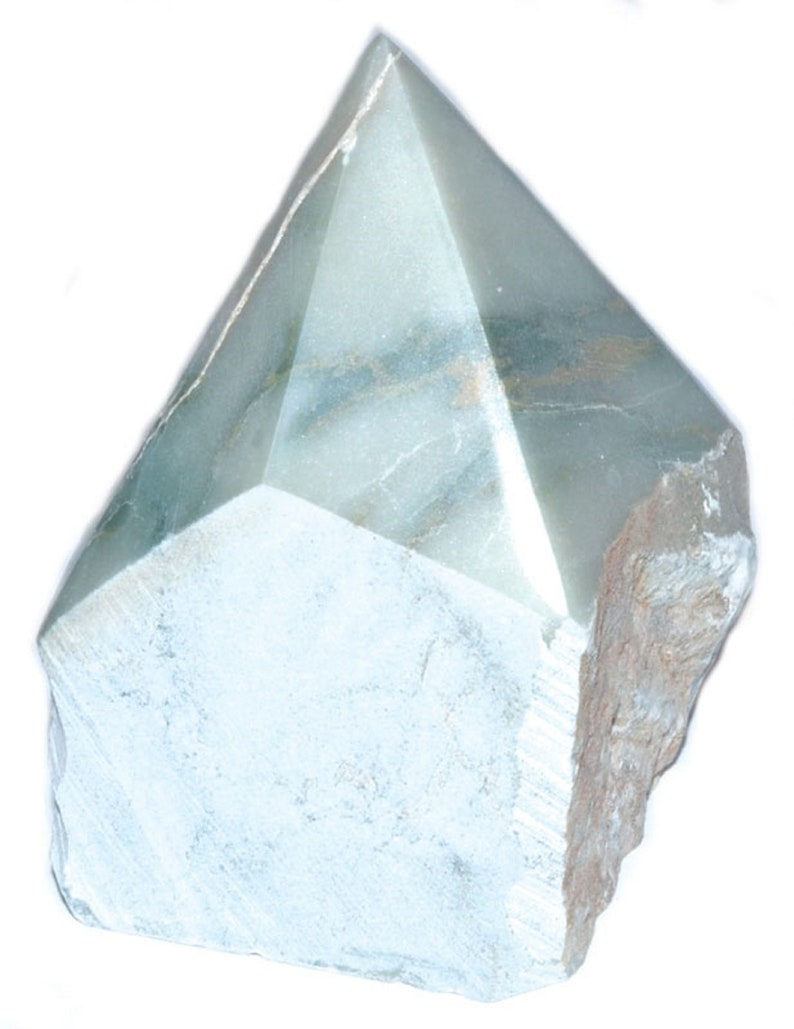 Apatite top polished Crystal Gemstone Point-Motivation Clear image 0