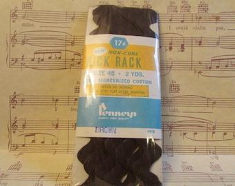 Vintage Brown Rick Rack----2 Yards