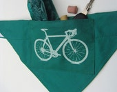 Road Bike Dog Bandanna SIze med-lg