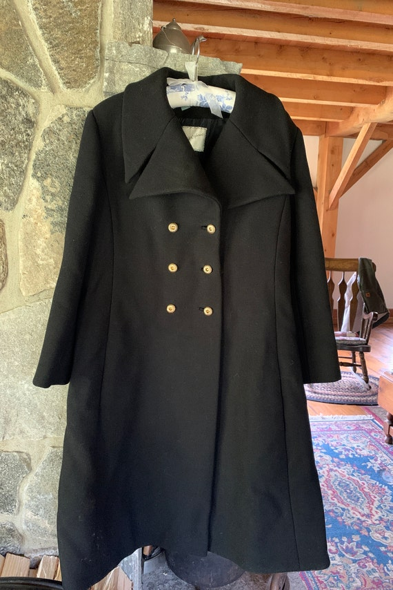 Christian Dior 1960s Vintage Pea Wool Coat