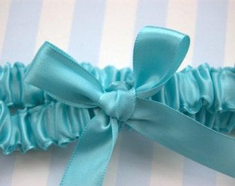 GarterLady's Original Tiffany Something Blue Heirloom Garter