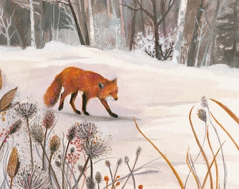 Fox in Snow  print