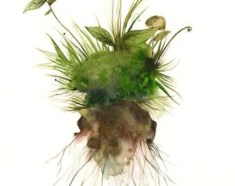 Earth - Archival print, nature art, botanical