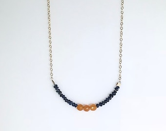 The Auburn Necklace | jewelry, handmade, necklace, auburn necklace, graduation gift, gift for her, birthday gift, by mila designs