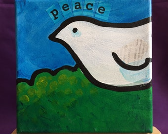 The Dove of Peace 6x6 Painting